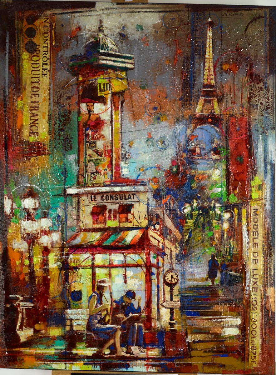 Produit de France by nemo - Glazed Orig Mixed Media on Box Canvas sized 36x48 inches. Available from Whitewall Galleries